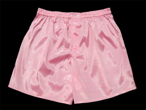 (L) Rosa Pink Boxershort Boxershorts Herren Unterwäsche Satin Glanz Boxer Short