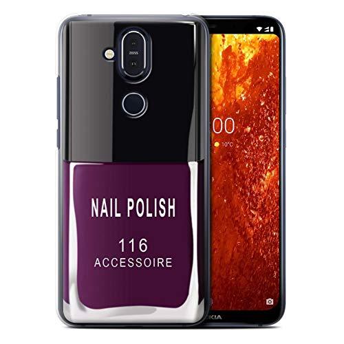 eSwish telefoonhoesje/over/huid/NOKLUM-CC/nagellak/make-up collectie Nokia 8.1 2018/X7 Paars