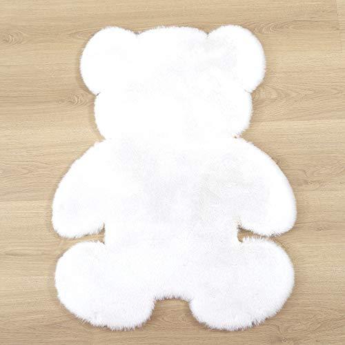 Hogar Alfombra Oso alfombra super suave alfombra moderna sala de estar dormitorio antideslizante alfombra esponjoso alfombras decoración alfombras blanco marrón niños felpudo Decoración Alfombras