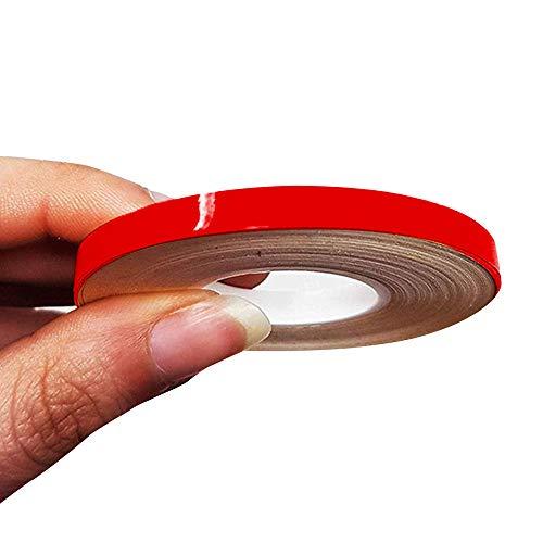 4R Quattroerre.it 10467 Strisce Adesive per Auto, Rosso, 5 mm x 10 mt