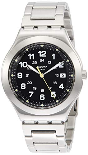 Swatch Reloj Analógico para Hombre de Cuarzo con Correa en Acero Inoxidable YWS439G