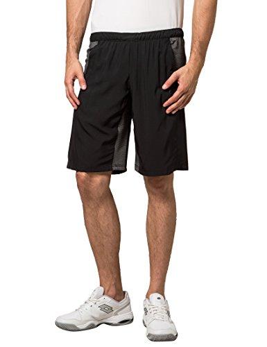 Ultrasport Brisbane - Pantalones cortos de tenis para hombre, color negro, talla M