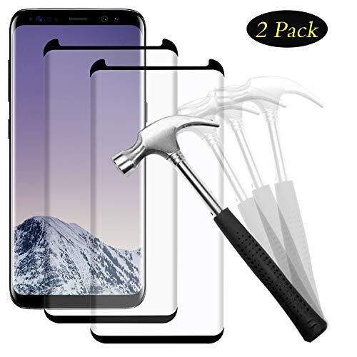NUOCHENG Panzerglas Schutzfolie für Samsung Galaxy S9 Plus, [2 Stück] 3D Curved Full Cover 9H Gehärtetes Glas, Anti-Kratzer, Bläschenfrei, Transparenz HD, Displayschutzfolie für Samsung S9 Plus