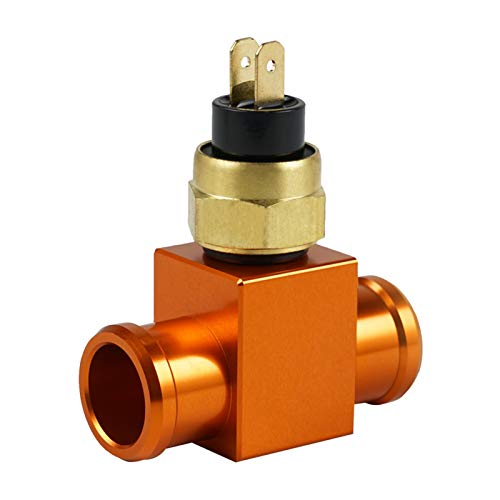 XIUFANG 22 mm Interruptor de Temperatura Radiador Formado de Ventilador para KTM 125-530C Excc excuc XC xcf xcw sx sxf Ventilador termostato Ajuste para Yamaha Kawasaki Honda CR CRF (Color : Orange)