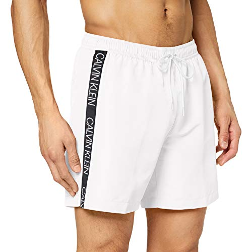 Calvin Klein Medium Drawstring Pantaloncini, Bianco (PVH Classic White YCD), Uomo
