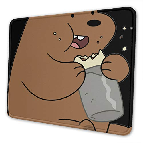 Didrika We Bare Bears Mouse Pad with Stitched Edge, Premium-Textured Mouse Mat, Non-Slip Rubber Base Mousepad for Laptop, Computer & Pc,7 X 8.6 in