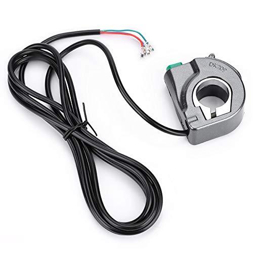 Changor Interruptor de lámpara de Bicicleta eléctrica, luz de Bicicleta Agradable 1.2M Material de plástico de Calidad de plástico PVC (Negro)