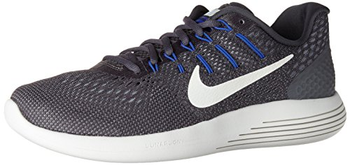 Nike Lunarglide 8, Sneakers Hombre, Gris (Dk Grey/Summit White/Wolf Grey/Paramount Blue/Med Blue), 44 EU