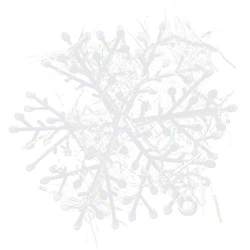 BIGBIGWORLD 18 Pezzi DegGod Bianco Fiocchi di Neve Decorazione di Natale da Appendere Ornamenti Albero di Natale Decorazione di Natale Party Accessori, 18 cm
