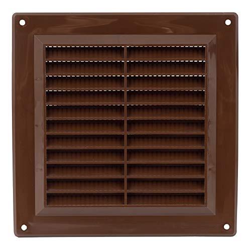 150x150 mm Braun Lüftungsgitter 15x15cm Insektenschutz Gitter Lüftung aus ABS Kunststoff