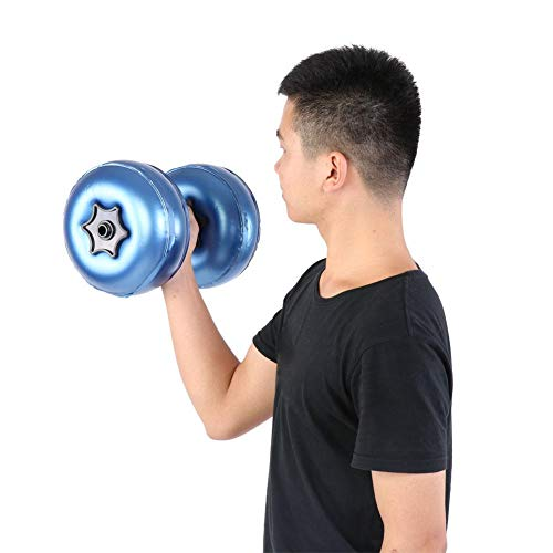 Maxmartt Dumbbell Adjustable Dumbbell Water-Filled Barbells Eco-Friendly Fitness Equipment for Gym Indoor(8-10kg-blue)