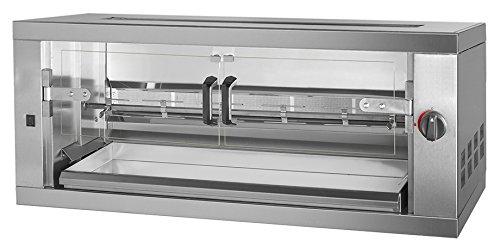 Gas Hähnchengrill PREMIUM mit 1 Spieß für 6 Hähnchen - 1190 x 480 x 460 mm | Drehgrill | Bratengrill | Rotisserie | Spießbratengrill | Gastro