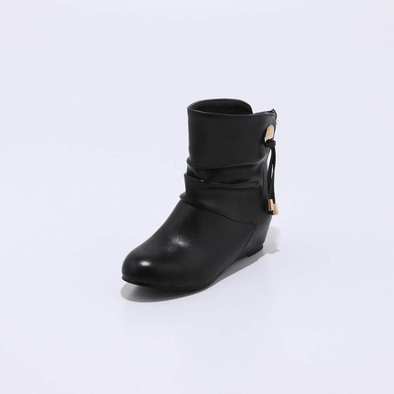 Women Simple Ankle Boots 2018 Autumn Winter Walking Boots Size 33-43 Short Boots,Black,36
