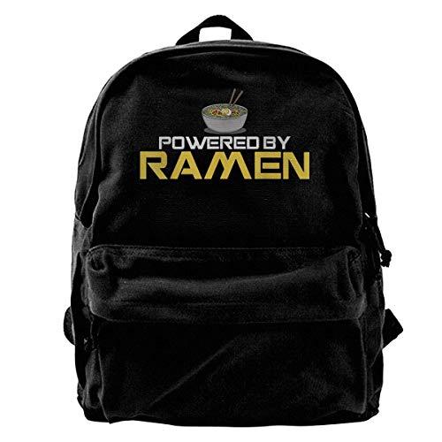 IUBBKI Zwinz Powered by Ramen Japanese Anime Noodles Girls Boys Backpacks Canvas Book Bags