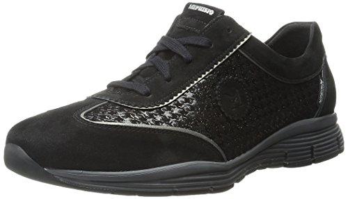 Mephisto Women's Yael Walking Shoe, Black Velcalf Premium/Paris/Titanium Pearl Calfskin, 6.5 M US