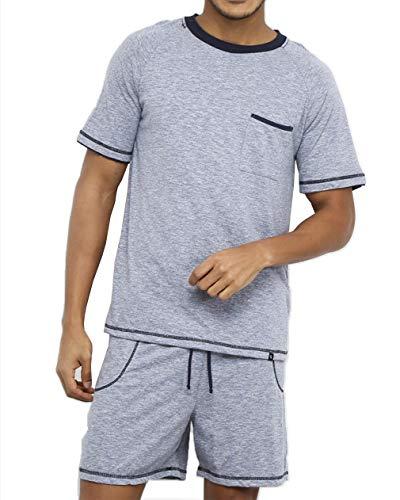 Pijama Lupo AM Curto masculino Azul P