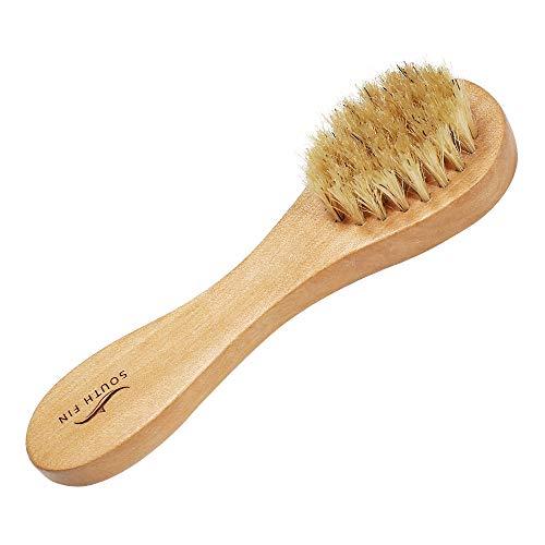 XLH Face Brush Blanc Bristle Nettoyant Visage Massage en Bois Soins Brosse Visage Brosse Brighten et améliorer Le Tonus de la Peau