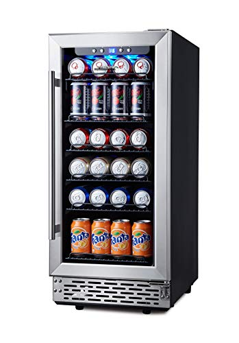 Phiestina 15 Inch Beverage Cooler Refrigerator - 96 Can Built-in or Free...