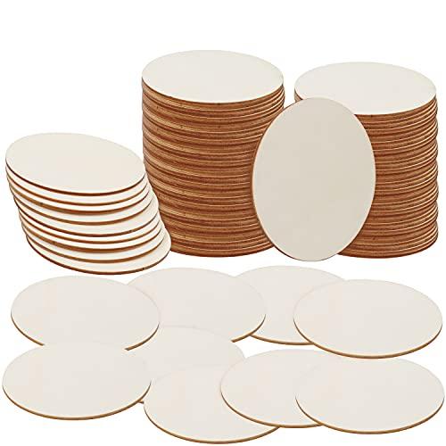 BELLE VOUS Runde Holzscheiben zum Basteln (100er Pack) - Runde Holzscheiben 10 cm Durchmesser - 2 mm Dick - Natürliche Holzplatte Rund Ausschnitte für Untersetzer & zum Basteln