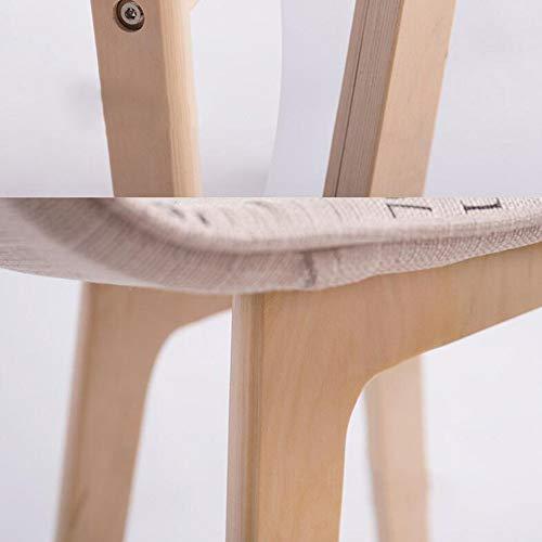 YIZ Moderne meubel-barkruk met PU-zitje en houten frame, comfortabele rugleuning en voetensteun, set van 2, 42 x 41,5 x 75 cm, hout