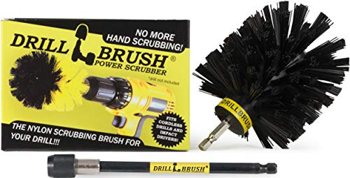 Drill Powered Nylon Bristle Cleaning Brush with Long Reach Extension