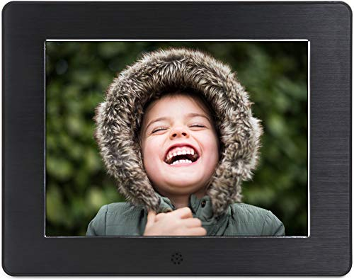 Micca 8-Inch Digital Photo Frame with High Resolution LCD, MP3 Music and 1080P HD Video Playback, Auto On/Off Timer (Model: N8, Replaces M808z)