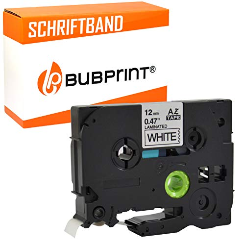 Bubprint Schriftband kompatibel für Brother TZE-231 für P-Touch 1000 1005 1010 1250 1280 1290 1290VP D200 D200BW D200BWVP D200VP D400 D400VP H100LB H101C H105 H105WB P700 900 Cube plus 12mm