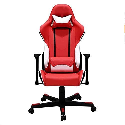 FTFTO Wohnaccessoires Bürostuhl Ergonomischer Stuhl Liegesitz Spielerstuhl mit hoher Rückenlehne, Fußstützenkopfstütze und Lordosenstütze