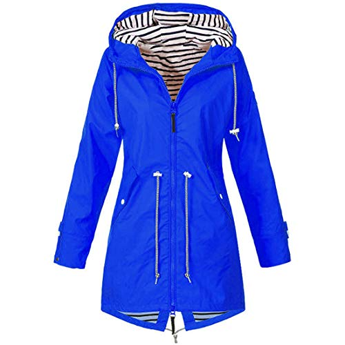 ZGRNPA Damen Winterjacke Pumps Wintermantel Outdoor Plus Solide Wasserdichter Kapuzenjacke Regenjacke für Frauen Outdoorjacken Wanderjacke mit Kapuze Windproof Outwear Windbreaker Kapuzenjacke