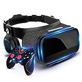 JYMYGS Occhiali VR, Realtà Virtuale, 3D Cuffie VR per Compatibile Altri Smartphone da 4,7''-6.0'', Lente Regolabile e Comoda Cinghia per Film e Giochi 3D, Samsung,Huawei,LG,Sony,Xiaomi,iPhone, N092JL