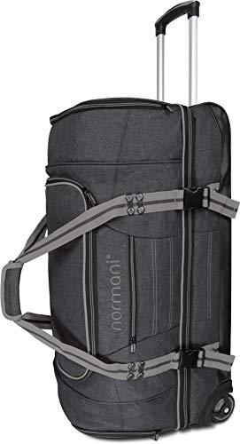 normani Reisetasche Reisetrolley mit Rollen 90 oder 120 Liter Volumen mit Verschiedenen Fächern Farbe Z Grey Größe 120 Liter