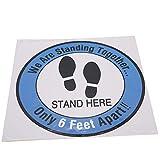 Bodenaufkleber-Zeichen, 5 Stück rutschfeste Warnung Bodenaufkleber, zu Hause für Bürogeschäfte(Stil 6)