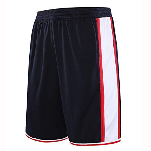 Pantalones De Baloncesto Hombres'deportes De Entrenamiento Cinco-Pantalones De Punto sobre La Rodilla Niños Baloncesto Corriendo Pantalones Cortos Casuales(Múltiples Colores Y Esti-En M