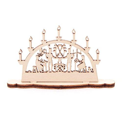 Miniatur-Schwibbogen Motiv Bergleute - Dregeno Erzgebirgische Holzkunst - Artikel 202/746/1