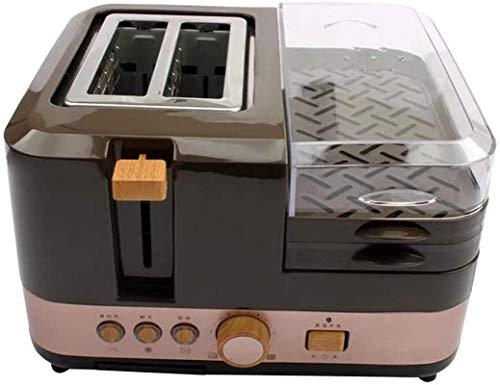 XY-M Desayuno eléctrico Máquina de Pan 2 rebanadas Tostadora Huevo Huevos Vaporización Salchicha Parrilla Tostador Tortilla Tortilla Sartén Calefacción