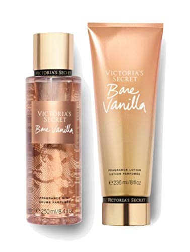 Set Victoria's Secret Bare Vanilla Body Mist 250 ML + Crema 236 ML