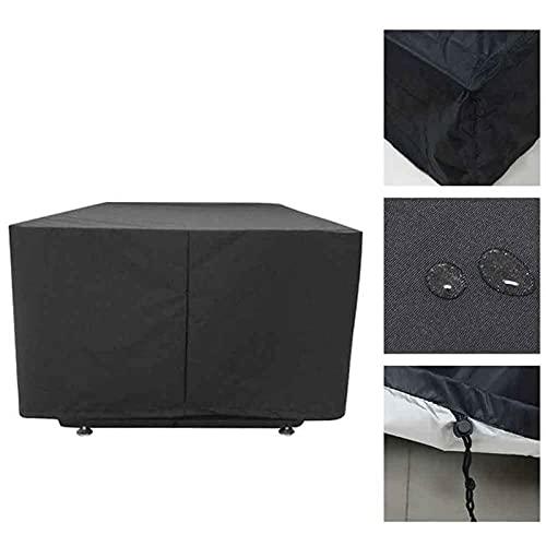 AWSAD Telo Mobili da Giardino Copritavolo da Giardino Anti-UV AntiGraffio Copertura per Mobili da Esterno Copertura Impermeabile in Rattan Patio 33 Dimensioni (Color : Nero, Size : 200x100x80cm)