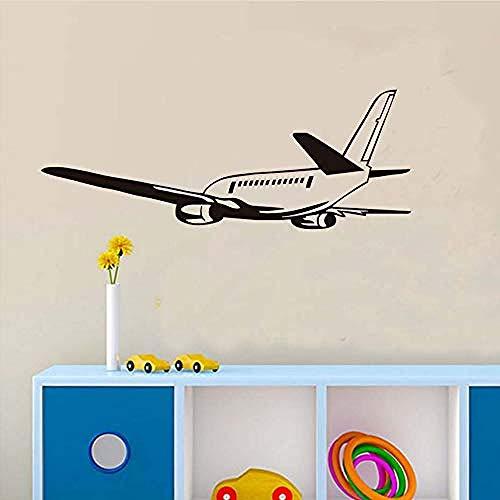 Art Muurstickers creatieve vertrek vliegtuig DIY afneembare Vinyl muur Applique muurschildering waterdichte kunst Stickers zelfklevende rubber behang kinderen S kamer 59X22Cm