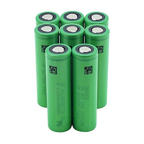 RitzyRose Batería De Litio De Iones De Litio De 3.7v 3000mah 18650 Vtc6, Batería De Repuesto para Batería De Faro 8pieces