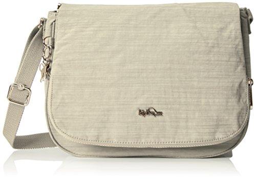 Kipling EARTHBEAT M, Bolso Bandolera para Mujer, Blanco (Dazz Cream), 30x22.5x10.5 cm