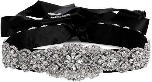 Handmade Rhinestone Crystal With Ribbon Wedding Belt for Bridal Shower Wedding Party