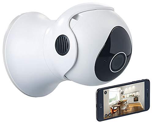 7links Pan Tilt Kamera: Pan-Tilt-IP-Überwachungskamera mit Full HD, WLAN, App, 360°, IP66 (Spracherkennung Kamera Outdoor)