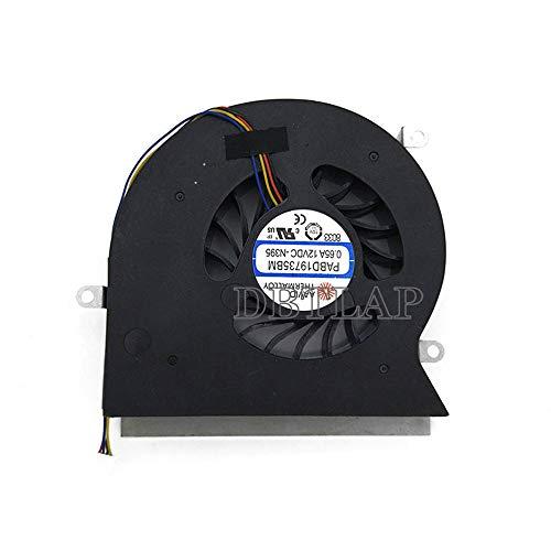 DBTLAP CPU Ventilador para MSI GT62VR 6RD 6RE GT62VR 7RE Dominator Pro 16L1 16L2 CPU Ventilador PABD19735BM-N322 4-Pins