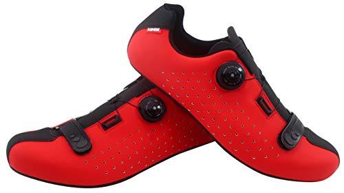LUCK Isasa, Zapatillas de Ciclismo Unisex Adulto, Rojo, 44 EU