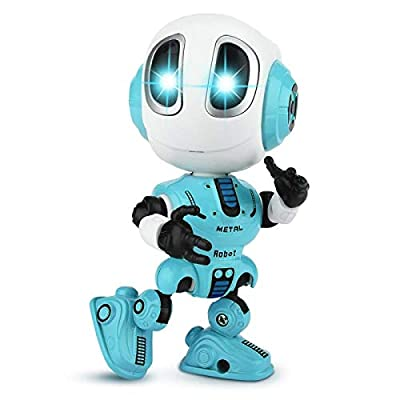 Funny Talking Robot Toys Interactive Electronic Educational Toys Robot for Kids Best Birthday Gifts for Boys and Girls Over 3 Years Old Children (Blue)