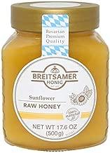 Breitsamer Sunflower Raw Honey Jar, 17.6 Ounce