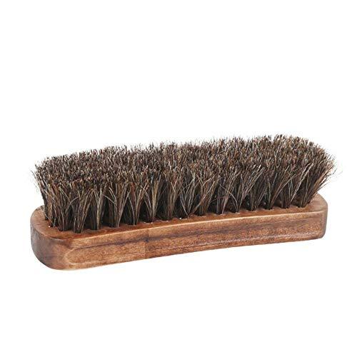 NO BRAND Polvo de pelo de caballo artificial de madera Eliminar herramienta de cuidado de cuero Cepillo de limpieza portátil Brillo Zapatos Cepillo Inicio Cerdas suaves
