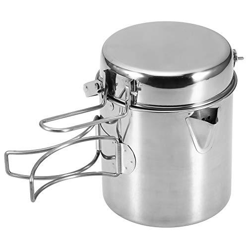 Camping Cookware - Juego de ollas y sartenes portátiles...