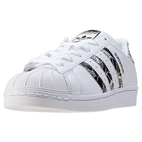 adidas Damen Superstar W Sneaker, Weiß (Ftwwht/Cblack/Spray), 37 1/3 EU