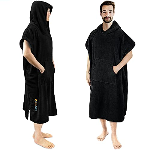 SUN CUBE Surf Poncho Changing Robe with Hood   Thick Quick Dry...